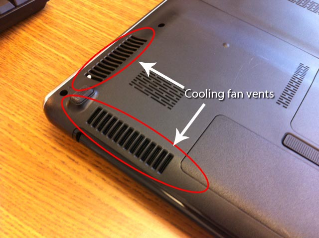 how to clean air vents in laptop