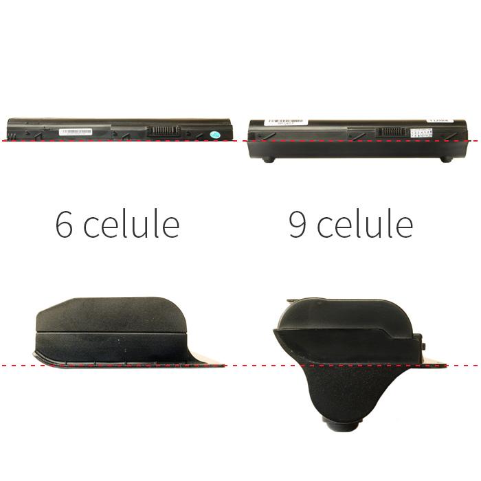 baterie 6 celule comparat 9 celule exterior