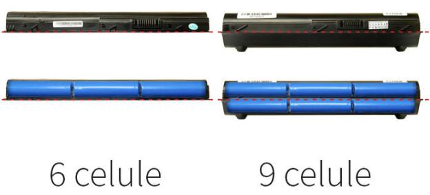 Capacitate baterie 6 celule sau 9 celule