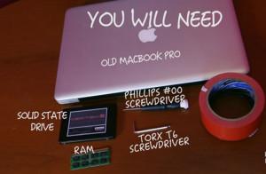 Update la APPLE MacBook PRO (macbook pro vechi)